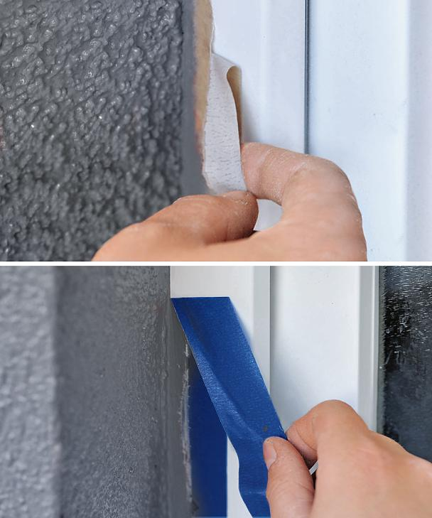 Masking on PVC Windows can be tricky when using the wrong tape.