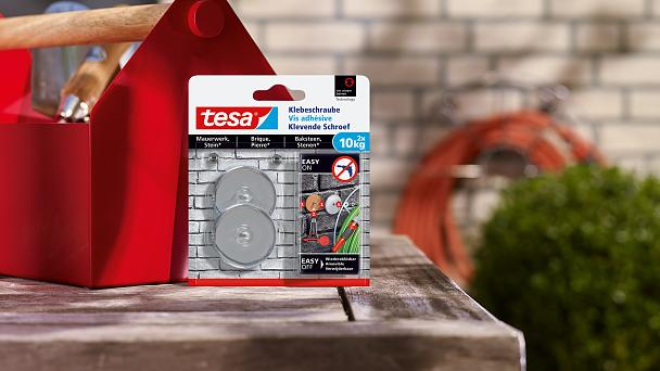How to use the tesa® Adhesive Screw Round for Brick & Stone 10kg.