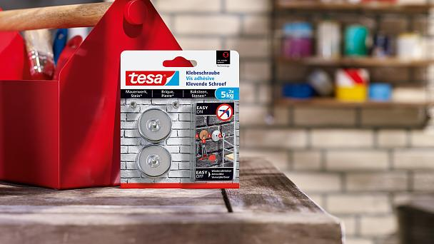 How to use the tesa® Adhesive Screw Round for Brick & Stone 5kg.